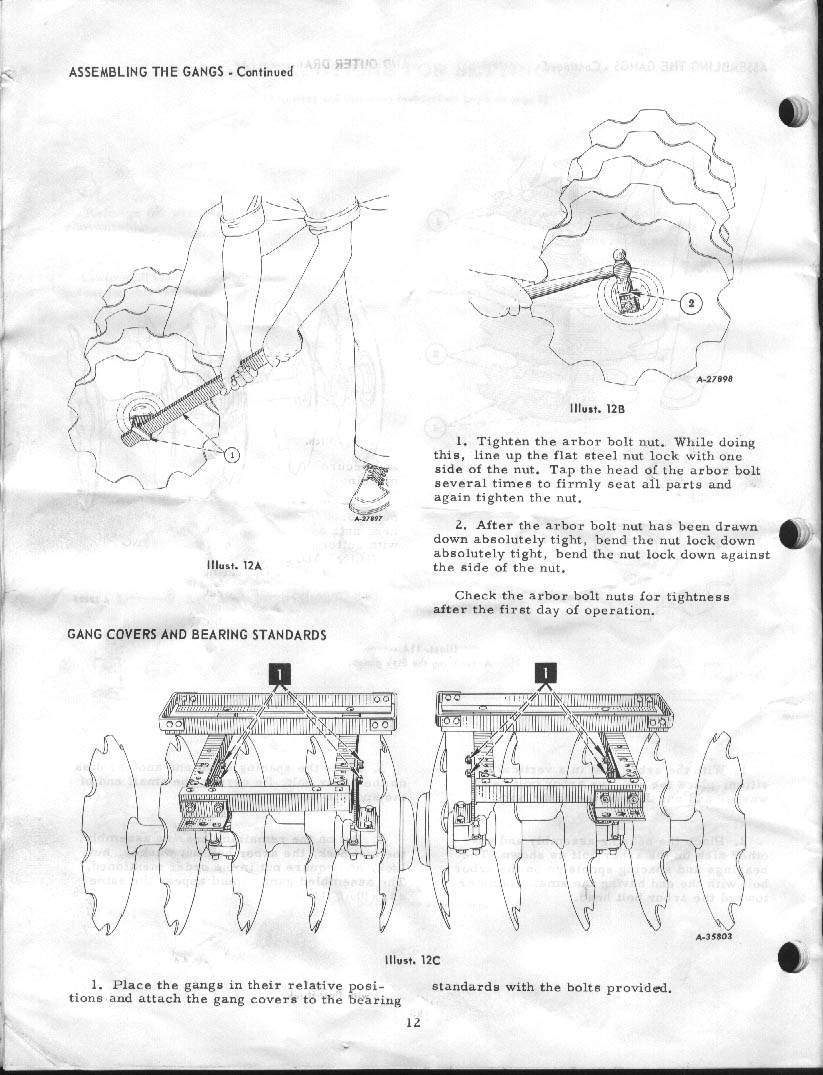 Cub l 38 disc harrow 1966 manual page 12 pooptronica