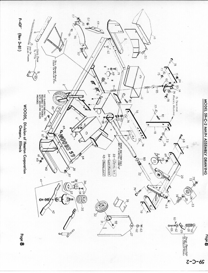Farmall 460 Brake Diagram : Farmall woods belly mower belt diagram imageresizertool