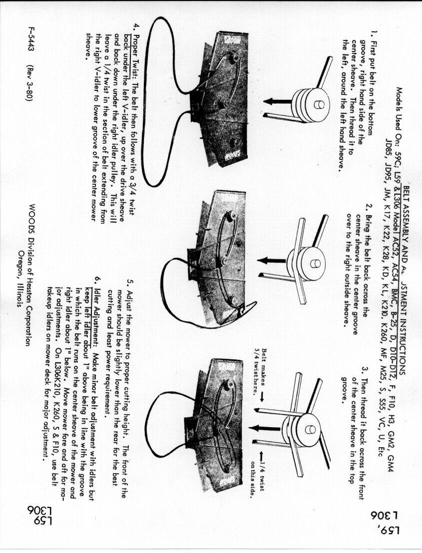 cub farmall belly mower parts