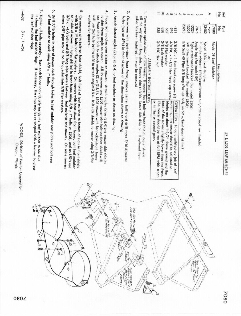 Woods 59-C-2 Rotary Mower Manual