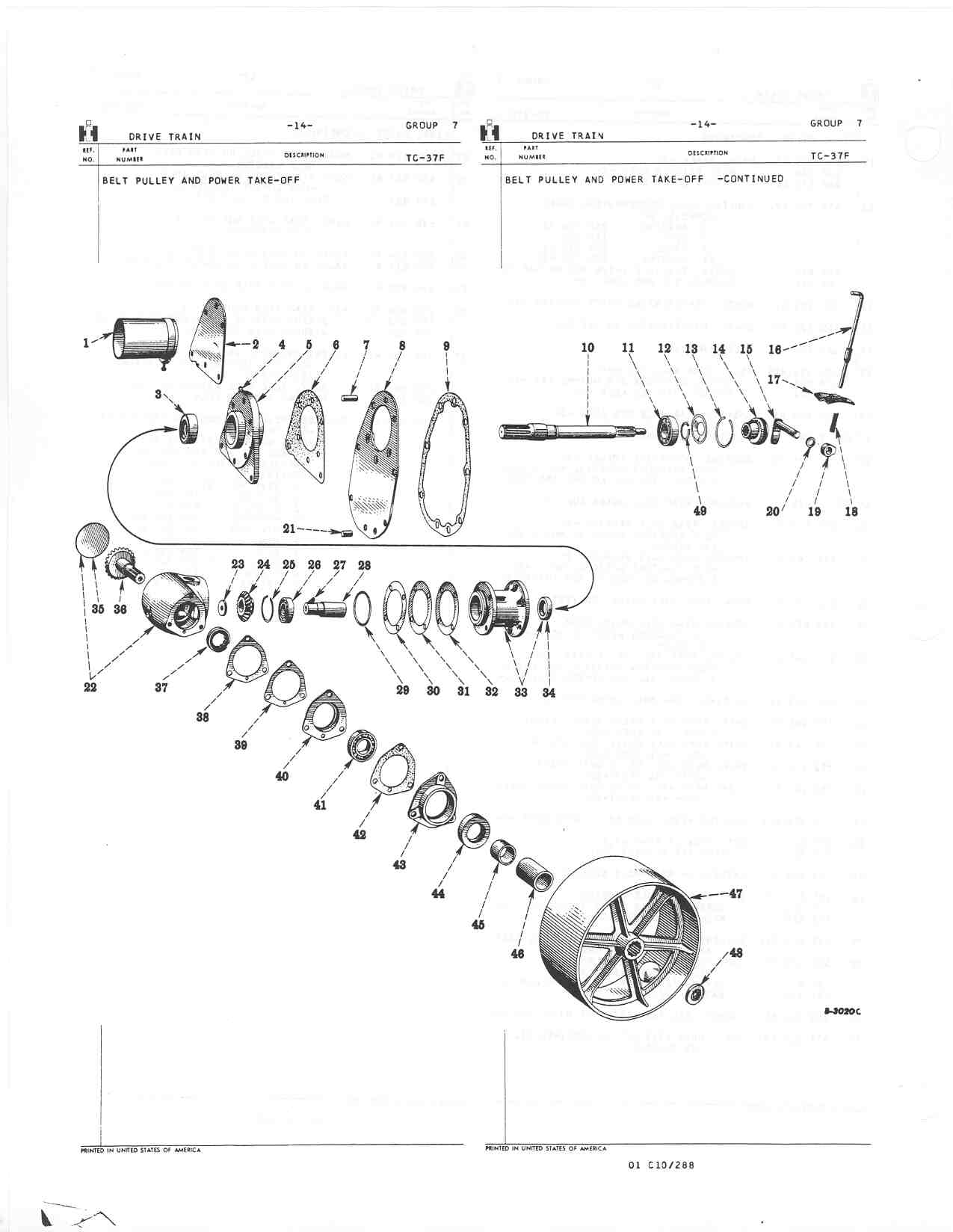farmall 140 parts diagram steering group 07 drive train  group 07 drive train